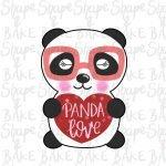 Panda love cookie cutter