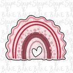 Wavy heart cut out rainbow cookie cutter