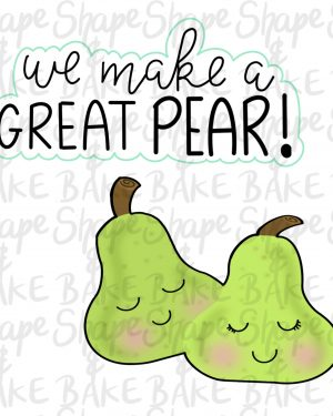 We make a great pear cookie cutter set (2 cutters)