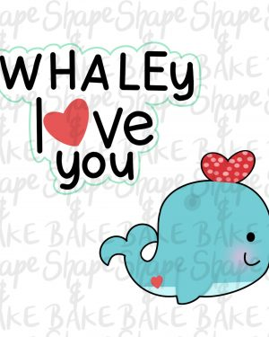 Whaley love you cookie cutter set (2 cutters)