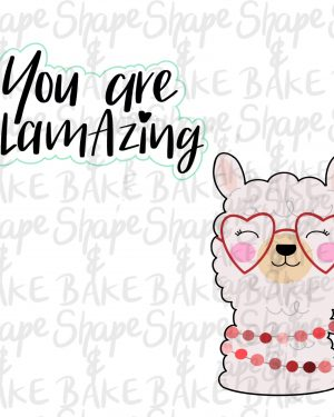 You Are Llamazing cookie cutter set (2 cutters)