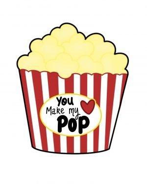 You make my heart pop cookie cutter