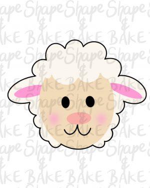 Lamb Face Cookie Cutter