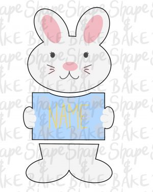 3 Piece Bunny plaque set cookie cutters ( 3 cutters)