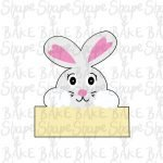 Bunny plaque cookie cutter