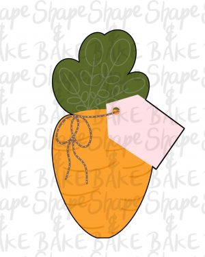 Carrot with a tag cookie cutter