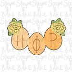 Hip / Hop egg banner cookie cutter