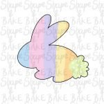 Sat bunny 2021 cookie cutter