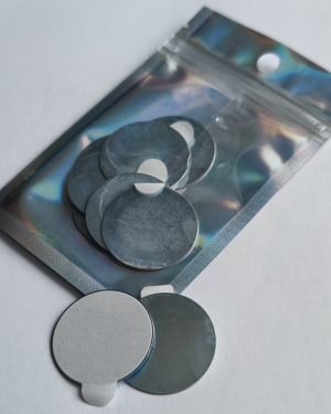 Self adhesive metal disc pack (for use with Stamp Buddy)