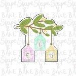Branch with lanterns cookie cutter