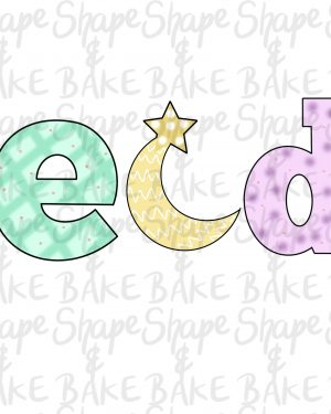 EID letters cookie cutters (3 cutters)
