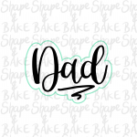 Dad cookie cutter (outline only)