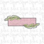 Leafy stick rectangle cookie cutter