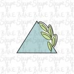 Leafy triangle cookie cutter