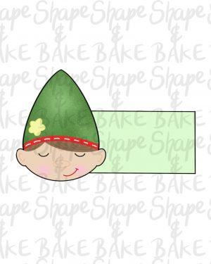 Elf face plaque cookie cutter