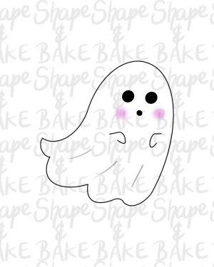Flowy ghost cookie cutter