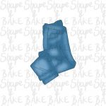 Folded jeans cookie cutter