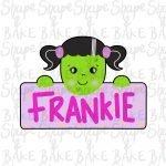 Frankie plaque cookie cutter