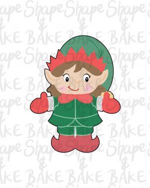 Full girl elf cookie cutter