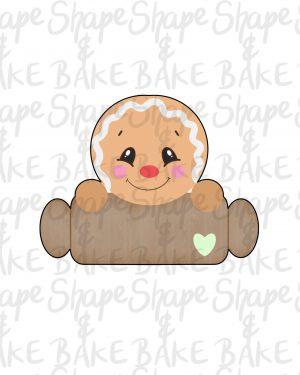 Gingerbread boy plaque cookie cutter