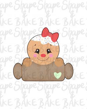 Gingerbread girl plaque cookie cutter