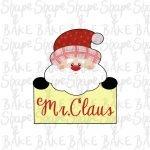 Mr Claus plaque cookie cutter