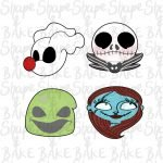 Nightmare set cookie cutters (set of 4 cutters)