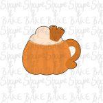 Pumpkin mug cookie cutter
