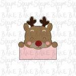 Reindeer plaque cookie cutter