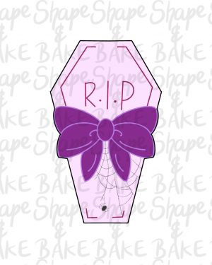 Ribbon coffin cookie cutter