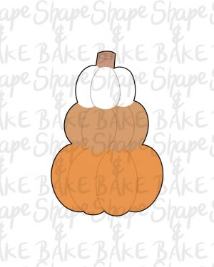 Stacked pumpkins 2021 cookie cutter