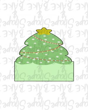Tree plaque cookie cutter