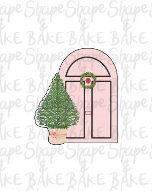 Door with a tree cookie cutter