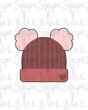 Double pom pom hat cookie cutter