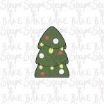 Flat tree cookie cutter