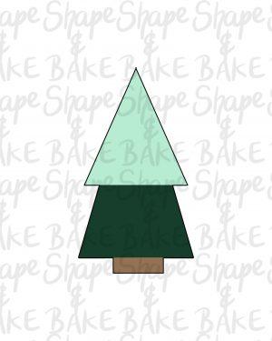Geometric tree cookie cutter