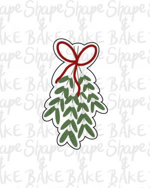 Hanging mistletoe cookie cutter