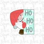 Ho ho ho plaque cookie cutter