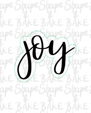 Joy cookie cutter (outline only)