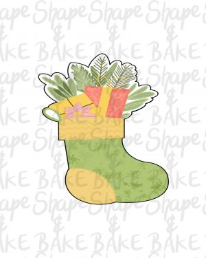 Leafy/floral stocking cookie cutter