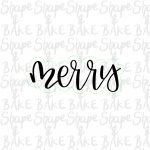 Merry cookie cutter (outline only)