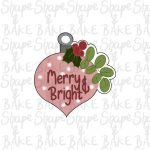 Mistletoe ornament cookie cutter