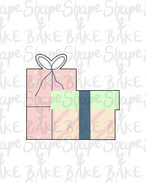 Presents set cookie cutter