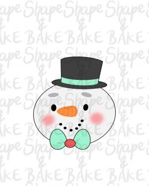 Snowman face cookie cutter