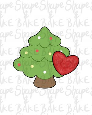 Tree with a heart cookie cutter