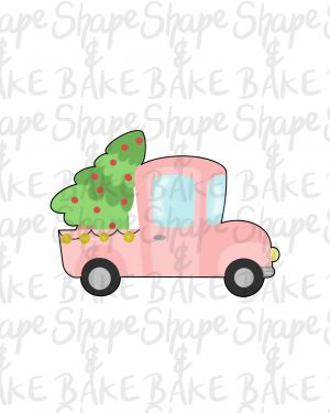 Truck with a tree cookie cutter