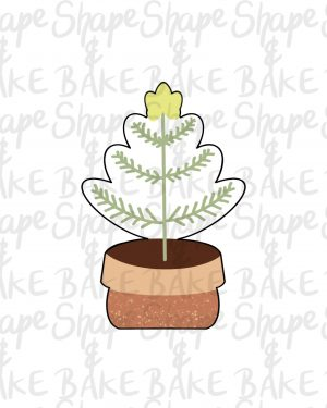 Twig tree cookie cutter
