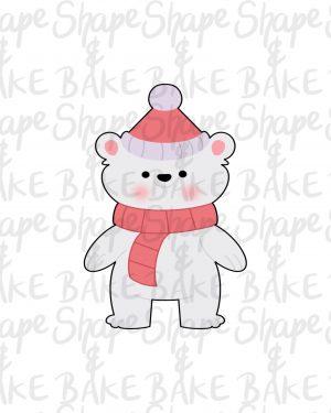 Xmas polar bear cookie cutter